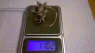 Серебряный колт (Киевская Русь) вес