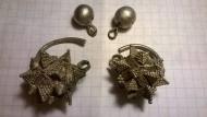 Серебряные колты и бусины (Киевская Русь)
