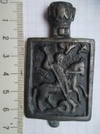 Иконка: Святой Георгий односторонняя, 15-16 век