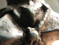 Древний брак литья на навершии булавы