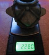 Вес бронзового навершия булавы IV типа (полость внутри без свинца)