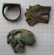 Сбруйные бляшки скифские, перстень импортный греческий II-в до н. э.