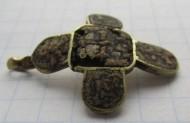 Золотой нательный крестик, с эмалью