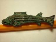 """Бронзовая скифская бляшка """"рыбка"""" 5 век до н. э."""