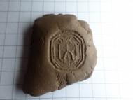 Печать с инициалами 17век герб Монтовты