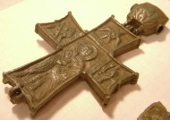 Энколпион 15 века Распятие Христово - Святой Николай
