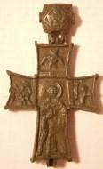 Энколпион 15 века Распятие Христово - Святой Николвй