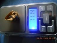Перстень Черняховская Культура. Золото, гемма, золотая зернь