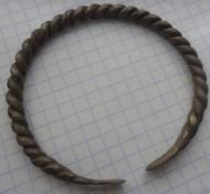 Витой серебряный браслет Киевской Руси