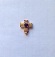 Крестик нательный Византия 6-7 в.в. Золото, стеклопаста