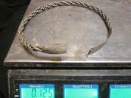 Витая серебряная шейная гривна