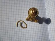 Массивный золотой древнерусский колт