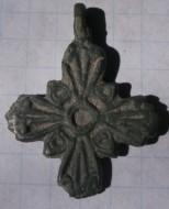 Крестик древнерусский фигурный, с эмалью в выемках XI-XIII век
