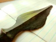 Бронзовый листовидный кинжал. 17см
