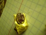 Перстень золотой тонкостенный с геммой Черняховская культура