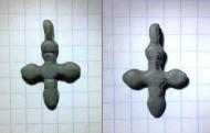 Бронзовый нательный крестик Киевской Руси