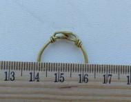 Золотое височное кольцо Черняховской к-ры