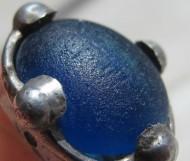 Салтово-маяцкий серебряный перстень с голубым камнем