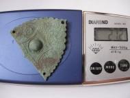 Золотоордынская накладка 14-15 в, вес 21 грамм