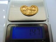 Золотая накладка лунница, Черняховкая к-ра - вес 1,47 грамм