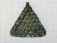 Привеска треугольная, ажурная