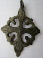 Бронзовый крест с сиянием. Киевская Русь