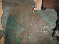 Обломки скифского бронзового котла