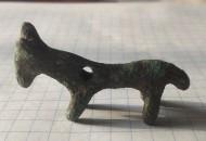 Бронзовая фигурка козлик-лошадка