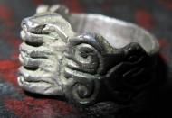 Бронзовый перстень 16-18 века «Триединый Бог»