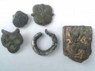 Ременные накладки, височное кольцо серебро