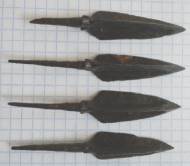 Хазарские трёхлопастные остролистные наконечники стрел VIII-IX век.