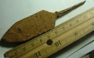 Большой шестиугольный наконечник стрелы, длина 12 см