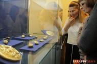 большая золотая сарматская круглая бляха с зооморфным орнаментом