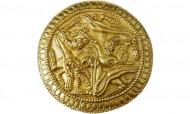 Фаллар - золотая округлая бляха, украшение коня