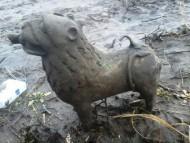 Акваманил - лев, 12-13 век - находка на берегу реки неподалеку от Киева