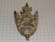 Серебряный с остатками позолоты наконечник ножен
