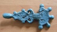 Пятипалая бронзовая фибула Пеньковская культура, 5-7 век