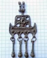 Татарская, ногайская серьга, 18 век.