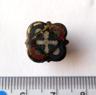 Накладка с крестообразным изображением и перегородчатыми эмалями. XII-XIII век.