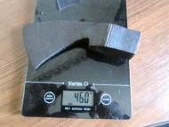 Топор шляхетский боевой, фото после расчистки от земли и ржавчины, вес 460  грамм