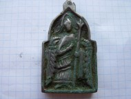 Нательная иконка К.Р. 12-13 в.в. с архангелом