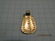 Золотая трапециевидная подвеска с закругленными краями, Черняховская культура