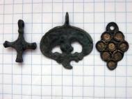 Квадрифолий, лунница, крестик