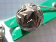 Серебряная пуговица гирька