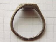 Серебряный шляхетский печатный перстень «Лютый Зверь» сер 17 в