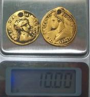 вес золотых монет древнеримского времени