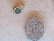 Личный перстень Ивана Выговского и круглая войсковая печать Ивана Выговского