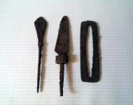 наконечник стрелы, ножик, вторая половина крисала