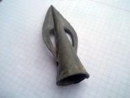 Бронзовый  наконечник копья с полусферическими прорезями. Белозерская культура