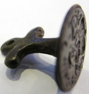 Бронзовая казацкая печать с гербом, клейнод